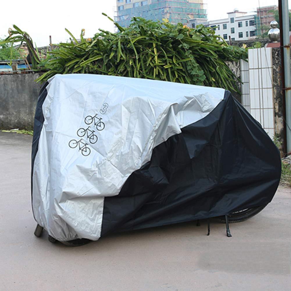 YANZHEN Copertura Mobili Giardino Poliestere Antivento Anti-Strappo Anti-Strappo per Biciclette, Biciclette, Biciclette, Dimensioni 3 (colore   Nero, Dimensioni   200x105x110cm) fa34b1
