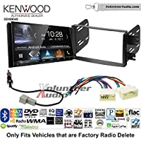Volunteer Audio Kenwood DDX9904S Double Din Radio Install Kit with Apple CarPlay Android Auto Bluetooth Fits 2012-2013 Hyundai Accent (Radio Delete Models)
