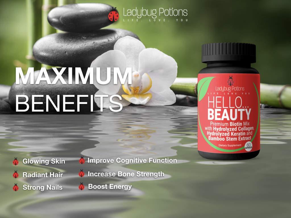 Amazon.com: Biotina premium para el crecimiento del cabello ...