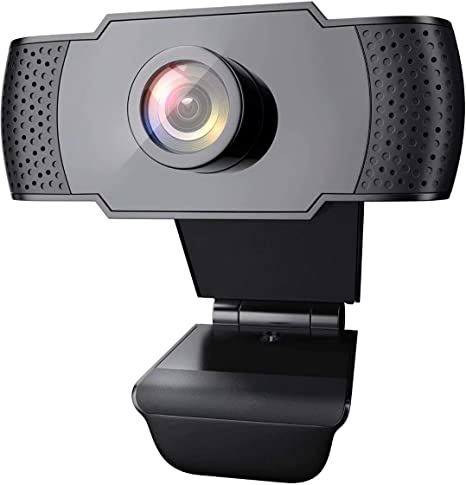 USB Plug /& Play Webcam Streaming Computer Camera for Video Conferencing 1080P HD Webcam with Auto Light Correction Teaching and Gaming Black Webcam with Microphone Streaming