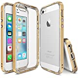iPhone SE / 5S / 5 Case, Ringke [Frame] Dual-Layer Reinforced Bumper [Royal Gold] Naturally Contour Patented Specialized Interlocking Clasp Resilient Structure Cover for Apple iPhone SE / 5S / 5