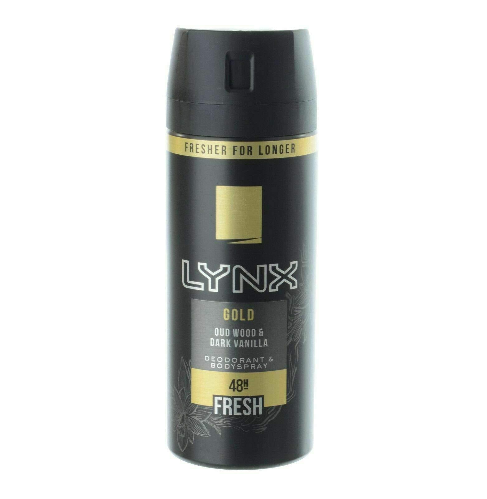 Lynx Gold Bodyspray Deodorant, 150ml