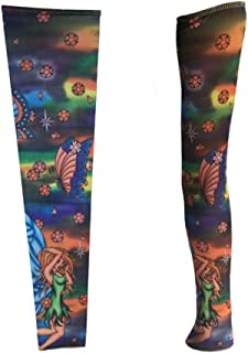 Scalda braccio/manica floreale del tatuaggio del braccio/manicotto del tatuaggio/copertura maschio del braccio della donna/maniche protettive,1 coppia-J M
