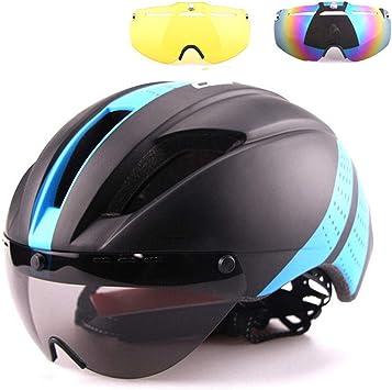 Casco para Bicicleta Aero Goggles Bicicleta de Carretera Casco en ...