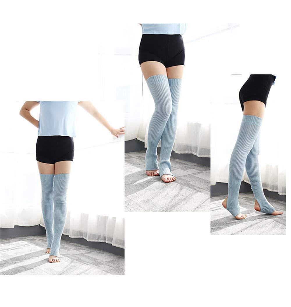 Danza Calze al Ginocchio Calde Calze Lunghe Calze Lunghe per Leggings da Barca Blu Blu Swallowuk 1 Paio di Calze da Donna in lattina per Fitness Calde