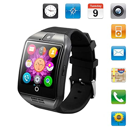 Hecmoks Smartwatch Sim Card Camera for Men Women Kids - Bluetooth Smart Watches Android Cell Phone Watch Card SD with Pedometer Music Player (Sliver1)