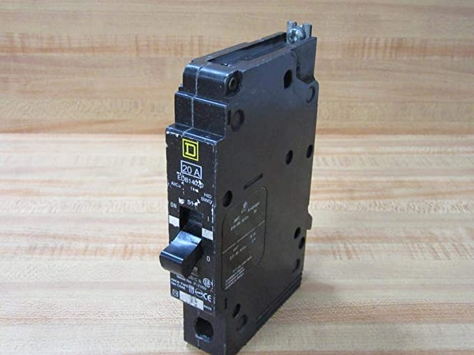 EDB14020 SQUARE D Circuit Breaker Molded Case Circuit Breaker (EDB) 20A, 1-Pole, 277Vac, Switching Duty Rated, 18kA