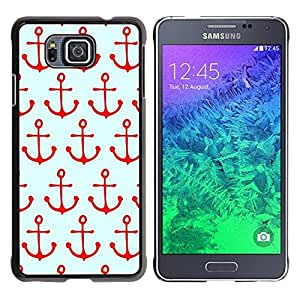 Paccase / SLIM PC / Aliminium Casa Carcasa Funda Case Cover - Pattern Sailing Red Sailor Sea Boat - Samsung GALAXY ALPHA G850