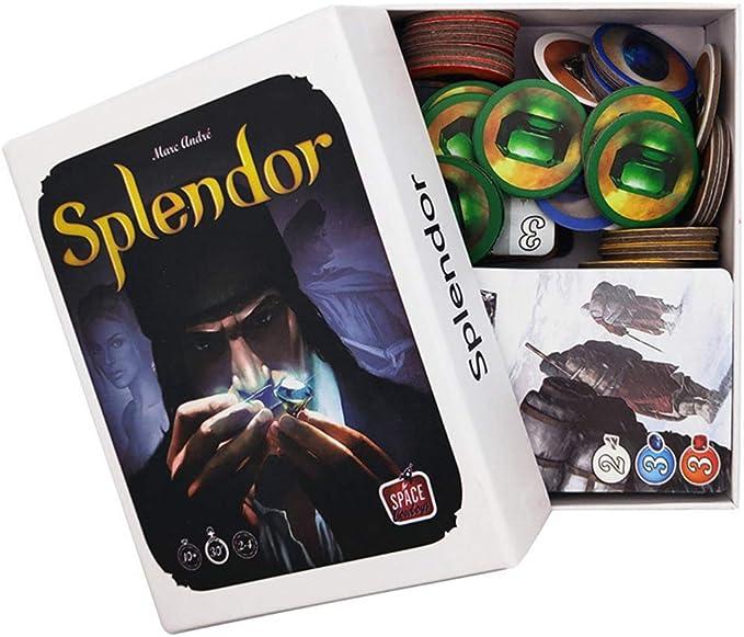 WXFC Splendor Gem Merchant Strategy Party Juego De Mesa Juego De Cartas, Adecuado para 2-4 Personas-Versión En Inglés: Amazon.es: Deportes y aire libre