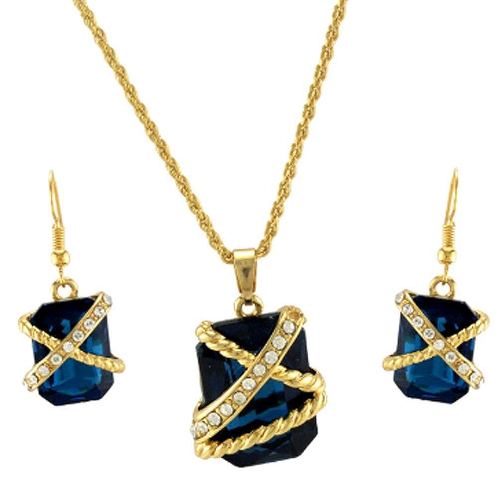 AmaranTeen Gold Plated New Women Magnificent Jewelry Set