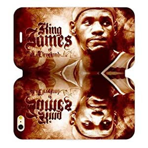 Hoomin Lebron James Excellent Basketball Player Case For Iphone 5/5S Cover Cell Phone Cases Cover Popular Gifts(Laster Technology)