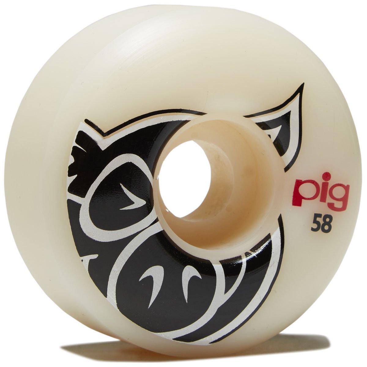 Pig Head Naturalスケートボードホイール – 58 mm   B07BRB8KQX