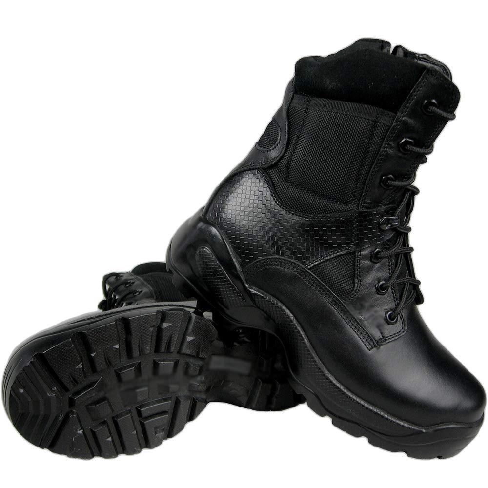 LIUYL Botas Militares tácticas para Hombre Zapatos con Cremallera ...