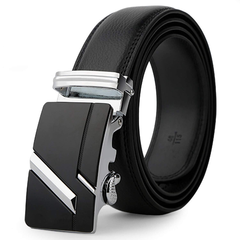 leather strap male automatic buckle belts for men authentic girdle trend mens belts ceinture Fashion designer women jean belt,Silver2,125cm