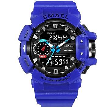 Liiyzy Relojes para Hombre Reloj Deportivo para Correr Hombre Fresco Moda Casual Militar Impermeable LED Relojes electrónicos con cronómetro Multifuncional ...