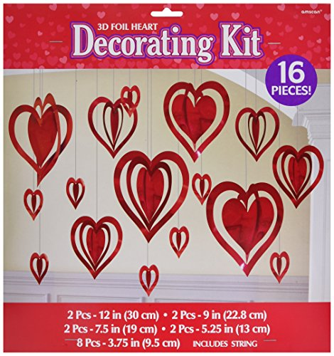 Amscan 249525 Party Kits Decors Item, Multi Sizes, Red]()