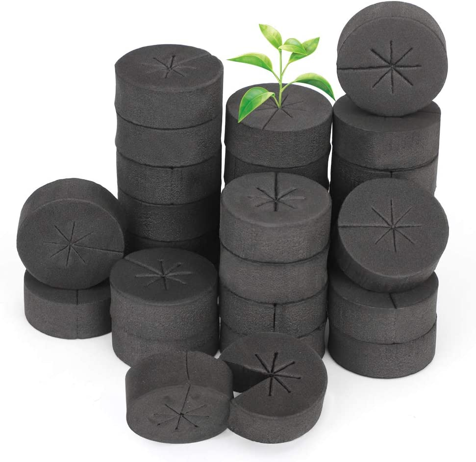 GROWNEER 60 Packs 2 Inches Garden Clone Collars Cloning Collar Inserts with 8 Spokes, Fits 2 Inches Net Pots, for Hydroponics, Cloning, Plant Germination in DIY Cloner and Clone Machines
