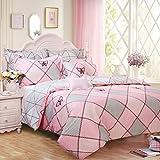 Brandream Girls Pink Bedding Butterfly Toddler Bedding King Size Duvet Cover Set 100% Cotton 3pcs(1 Duvet Cover + 2 Pillowcases)