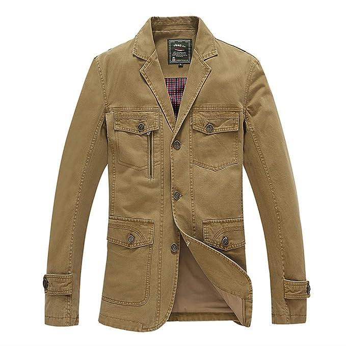 1 opinioni per Miagolio Uomo Giacca Cappotti Giubbotto Blazer Casuale Militare (42-52)