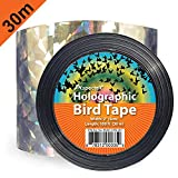 100-Foot by 2-Inch Bird Repellent Scare Ribbon Holographic Bird Scare Ribbon, Double Side Bird Deterrent