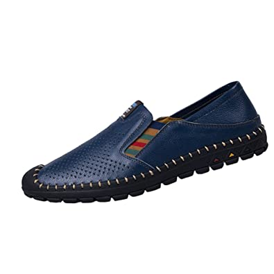 Herren Sk Mokassin Leder Slipper Loafers Studio Fahren q3c54ARjLS