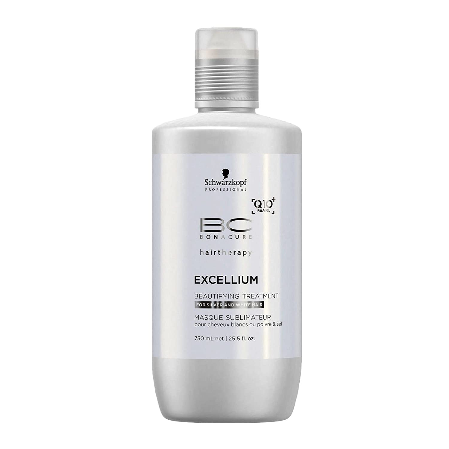 Schwarzkopf Professional BC Bonacure Excellium Beautifying Beautifying Treatment that Refines the Colour of Silver and White Hair (Exclusive Age-Defying Formula Combining Q10+ Black Pearl) 25.4 oz