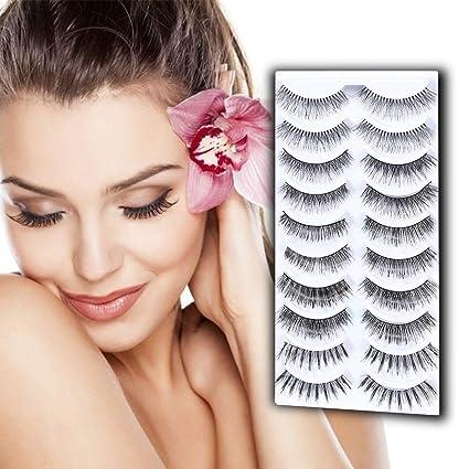 3021ce93d20 Amazon.com: CERROQREEN False Eyelashes 3d Mink Fur Fake Eyelashes ...