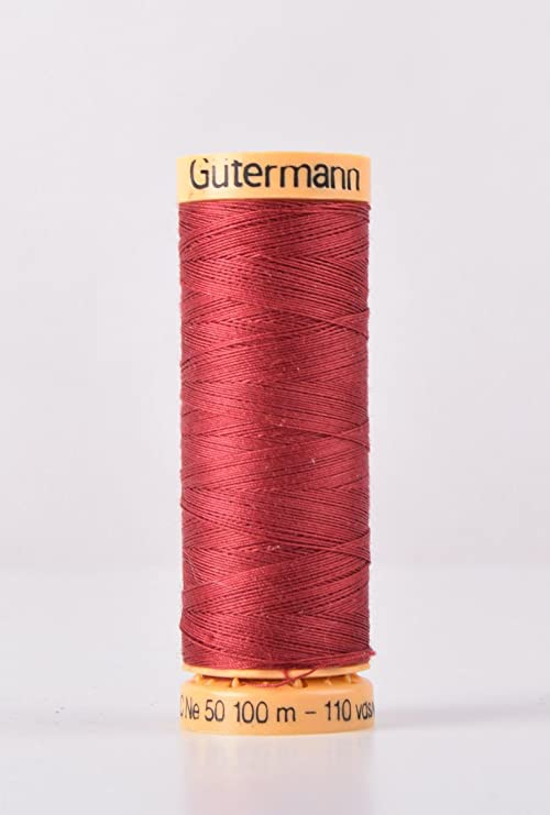 Gutermann 2t100c/2433 | Hilo de coser de algodón de color granate ...