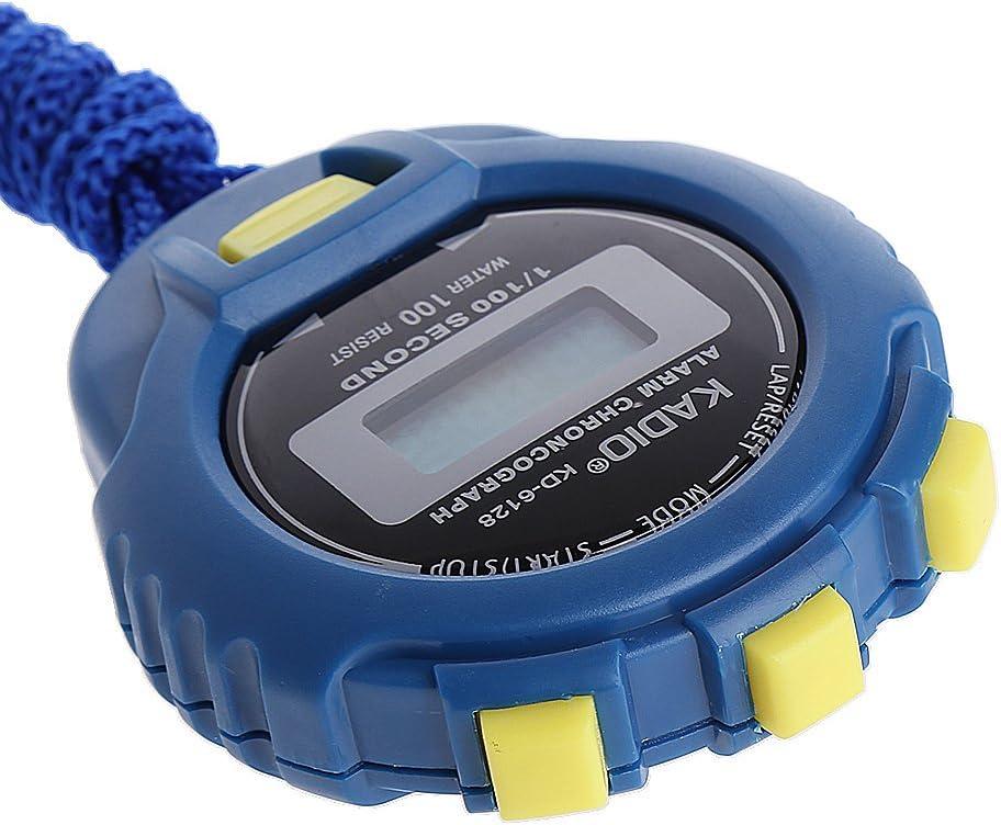 PENG Handheld Digital LCD Sports Chronom/ètre Chronographe Counter Timer w//Strap