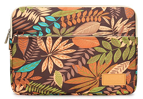 (Kinmac MAPE Leaf Coffee 15 inch Waterproof Laptop Sleeve with Pocket for 15 inch 15.6 inch Laptop and MacBook pro 15)