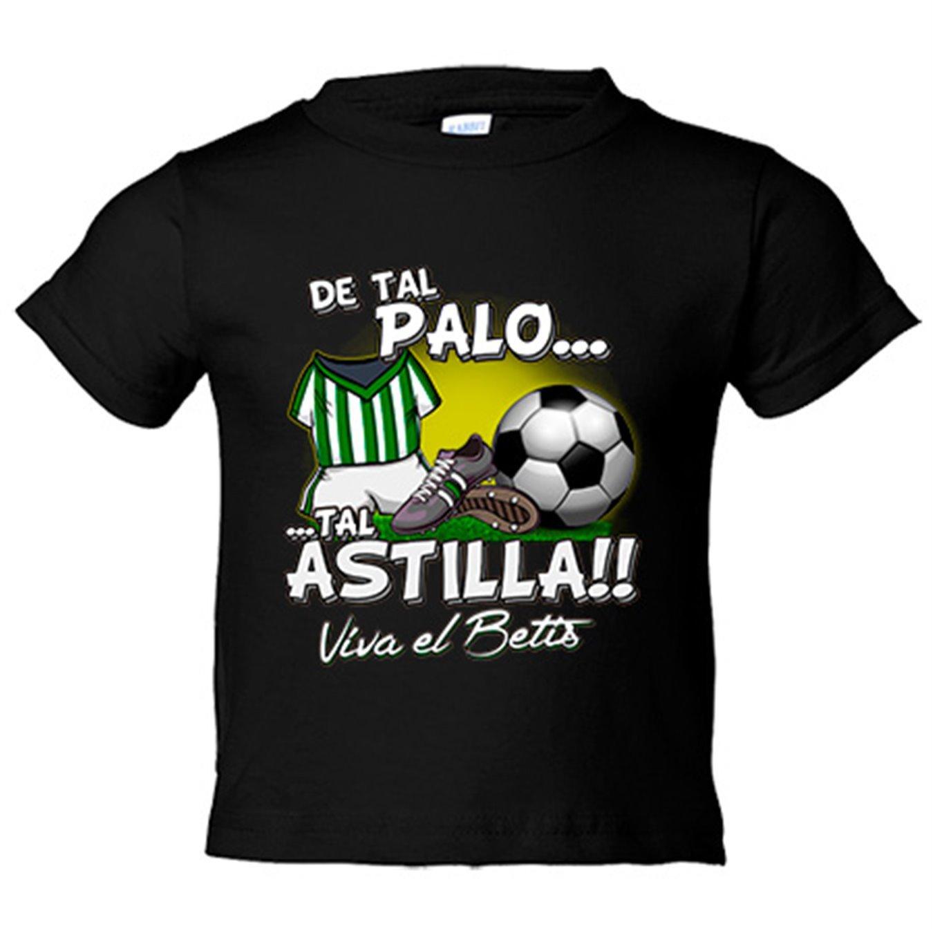 Camiseta niño De tal palo tal astilla Betis fútbol - Blanco, 3-4 años: Amazon.es: Bebé