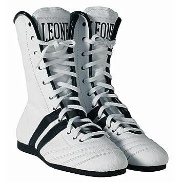 Botines de Boxeo León CL186 Color Blanco: Amazon.es: Deportes y aire libre