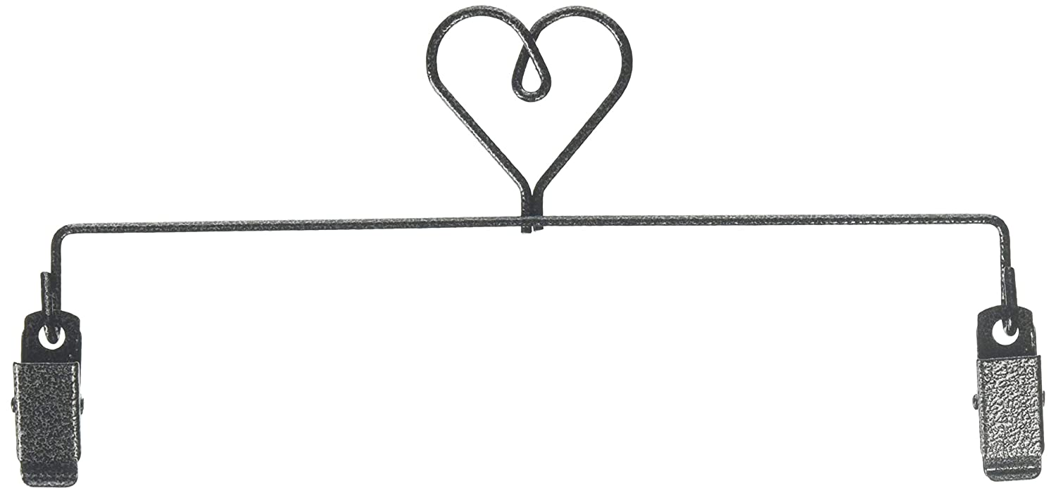 Ackfeld Manufacturing 35672 8In Heart Quilt Clip Hanger Charcoal
