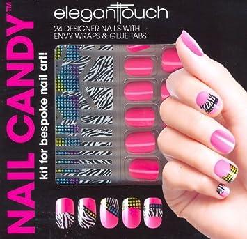 Amazon elegant touch 24 designer press on nails with envy elegant touch 24 designer press on nails with envy wraps prinsesfo Choice Image