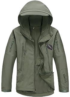 Goodorient Mens Waterproof Hooded Softshell Jacket