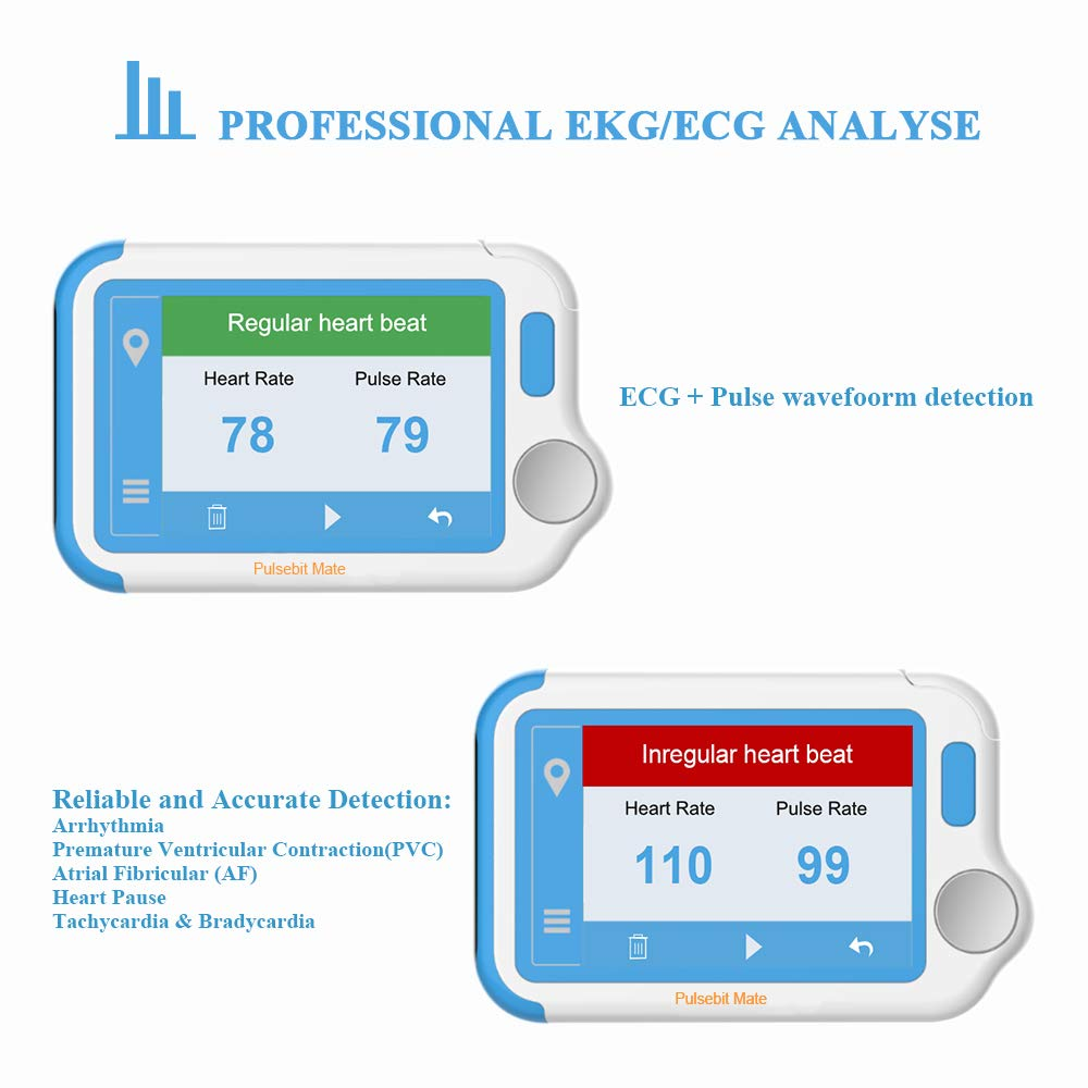 ECG/EKG Heart Health Tracker, Portable Heart Rate Monitor with PC Software, Household Heart Performance for Fitness & Sport, General Wellness Use by ViATOM (Image #3)