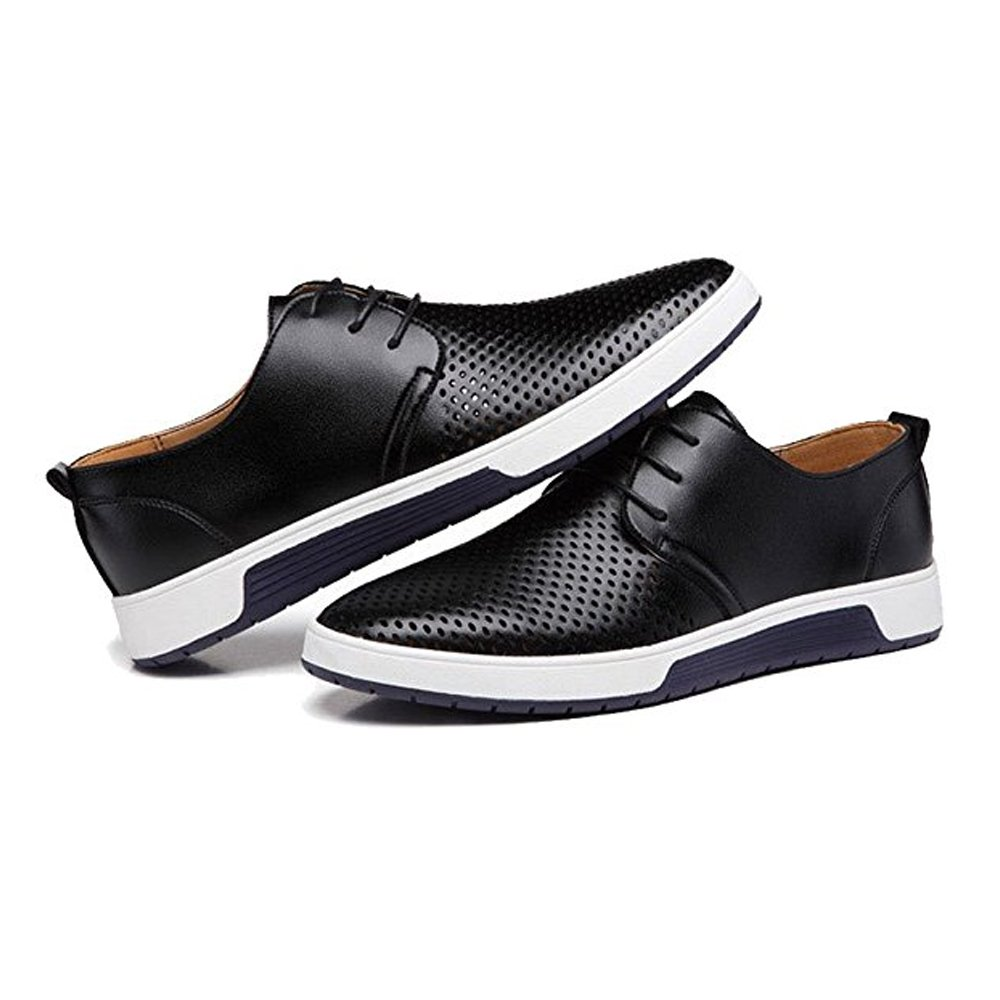 c903477dd9d JACKY'S 2018 Men and Women Casual Shoes Leather Summer Breathable Holes  Luxury Brand Flat Unisex Shoe