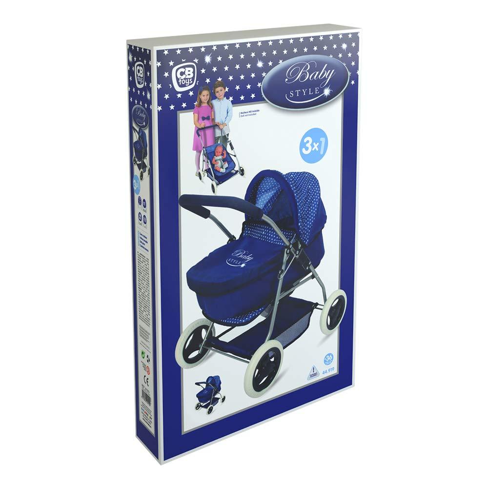 Amazon.es: ColorBaby Coche 3 en 1 Baby Style, Color Azul (44919): Juguetes y juegos