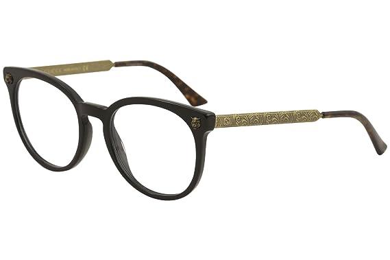 646dd8ee14f Amazon.com  Eyeglasses Gucci GG 0219 O- 001 BLACK GOLD  Clothing