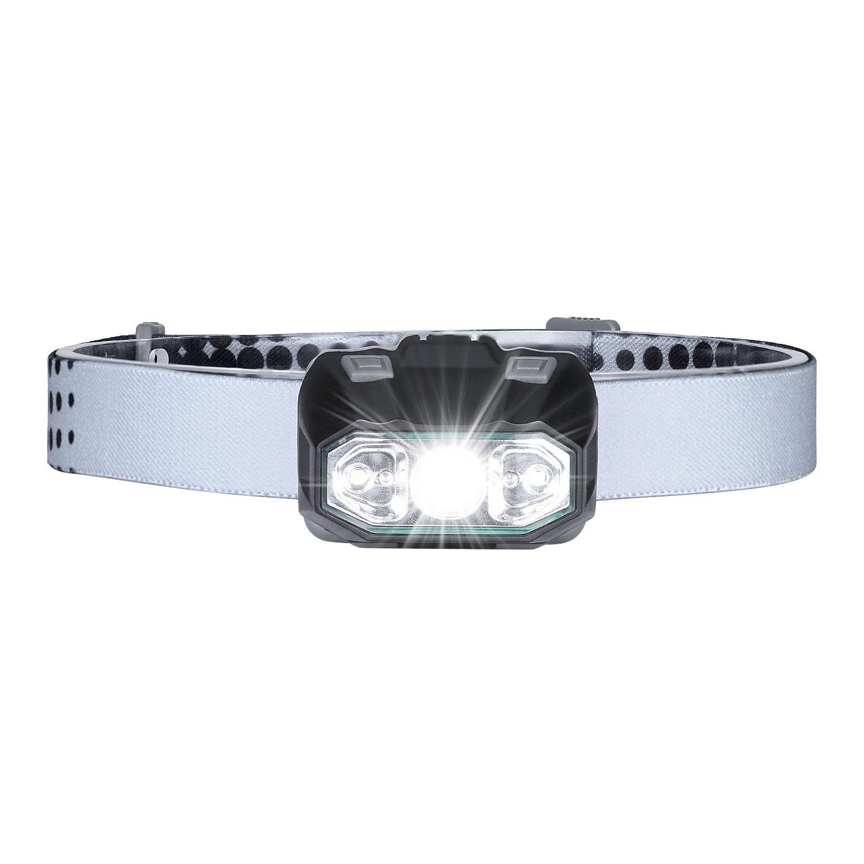Ricaricabile USB Lampade da Testa LED, 8000 Lumen Lampada Frontale, Luce Frontale Impermeabile Zoomable 4 Modalità - perfetto per correre, campeggio, escursionismo, lettura notturna Akale