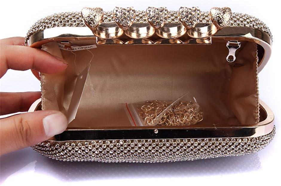 Abendtasche Dame Bankett Clutches Kristall Quaste Anhänger Abend Handtasche Hochzeit Kleid Clutch Geldbörse Für Hochzeitsfeier (Color : Black) Gold