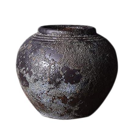 Amazon com: Vase Ceramic Vintage Rough Pottery Jar Jars Can