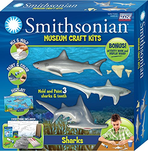 Shark Casting Kit (Smithsonian Sharks PerfectCast Museum Cast, Paint, Display and Learn Craft Kit)