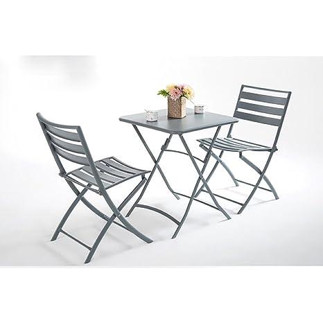 Amazon.com: CSQ Balcony - Mesa de té pequeña combinada ...