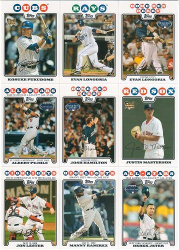 "2008 Topps Baseball ""Updates + Highlights"" Traded Series ..."
