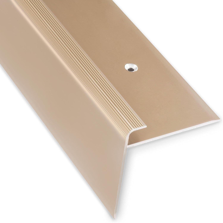 Perfil de mamperlán Safety (en forma de F, 53 mm de altura con un ribete de 7 – 8 mm, disponible en 4 colores y 3 longitudes [90 cm]), Dorado: Amazon.es: Bricolaje y herramientas