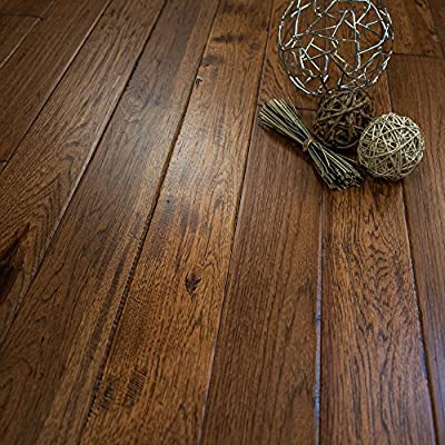 "Hickory Character (Jackson Hole) Prefinished Solid Wood Flooring 5"" x 3/4"" Samples at Discount Prices by Hurst Hardwoods"
