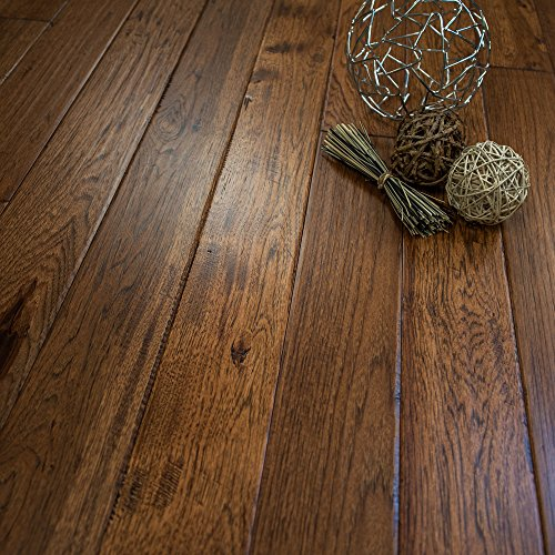 Hickory Hand Scraped Prefinished Solid Wood Floor, Jackson Hole, 1 Box, by Hurst Hardwoods