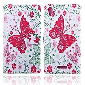 Shiny Windows Pattern PU Leather Case with Stand for HuG750(Assorted Colors)