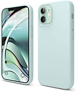 elago Liquid Silicone Case Compatible with iPhone 12 Mini 5.4 Inch Case (Green) - Full Body Protection (Screen & Camera Protection)